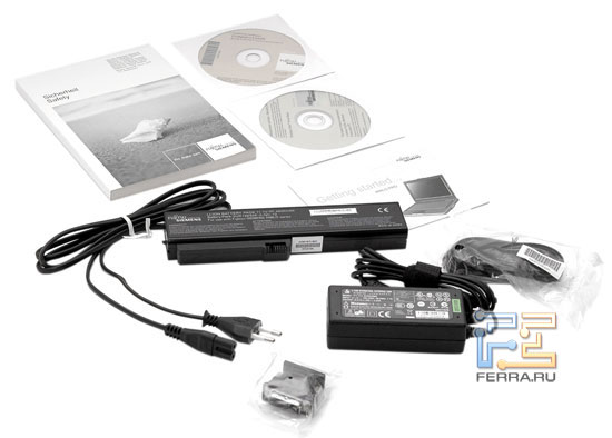 Fujitsu-Siemens AMILO Pro V3205: комплектация