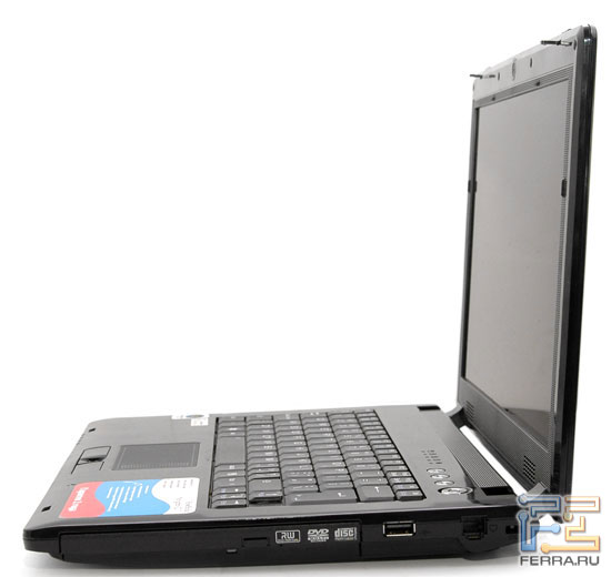 RoverBook Navigator V211: внешний вид в открытом состоянии