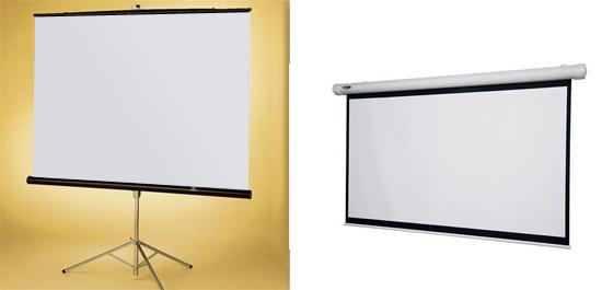Конструкция экрана. Оптимум для дома – справа