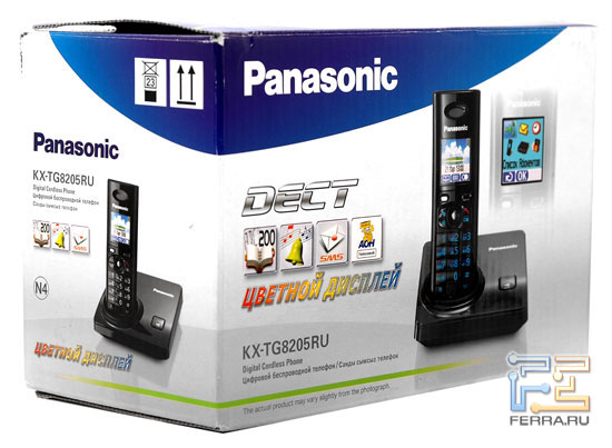 Упаковка телефона Panasonic KX-TG8205