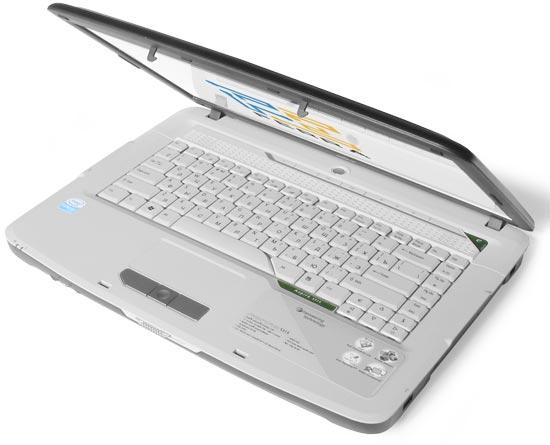 Acer Aspire 5315: внешний вид в открытом состоянии