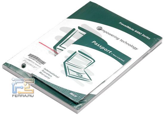 Acer TravelMate 6492: комплектация
