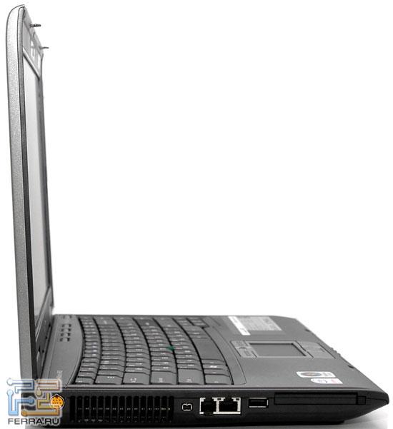 Acer TravelMate 6492: внешний вид в открытом состоянии