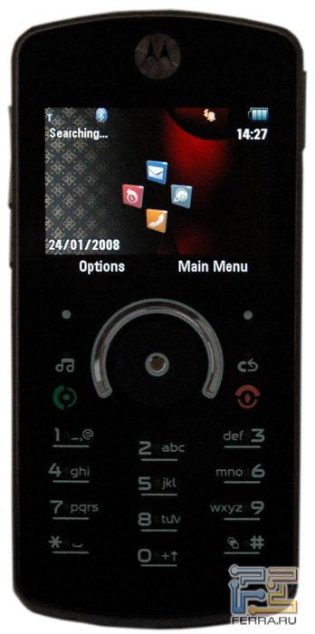 Motorola ROKR E8: эргономика 4