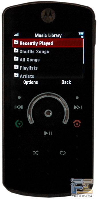Motorola ROKR E8: эргономика 5