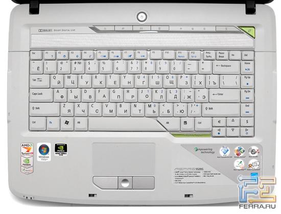 """Производители уже  """"нащупали """" золотую середину и стараются её придерживаться.  Клавиатура Aspire 5520G имеет..."""