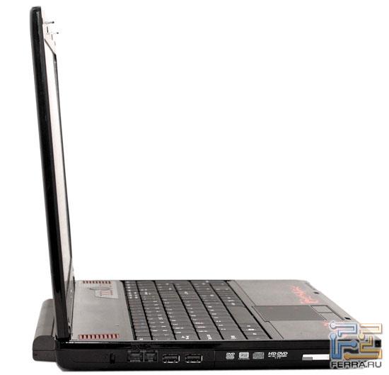 MSI GX600: внешний вид в открытом состоянии