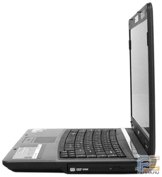 Acer TravelMate 5720G: внешний вид в открытом состоянии