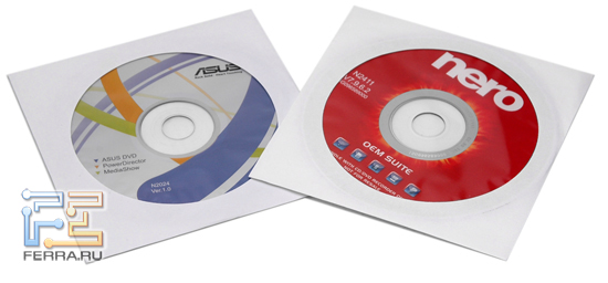 ASUS U2E: компакт-диски с ПО