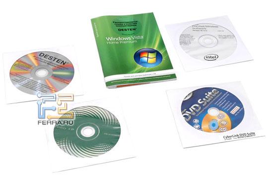 Desten CyberBook S843: руководство пользователя, компакт-диск с ПО
