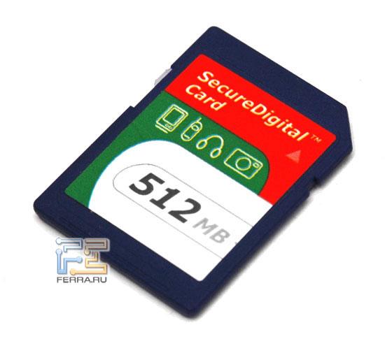 SD-карта из комплекта поставки