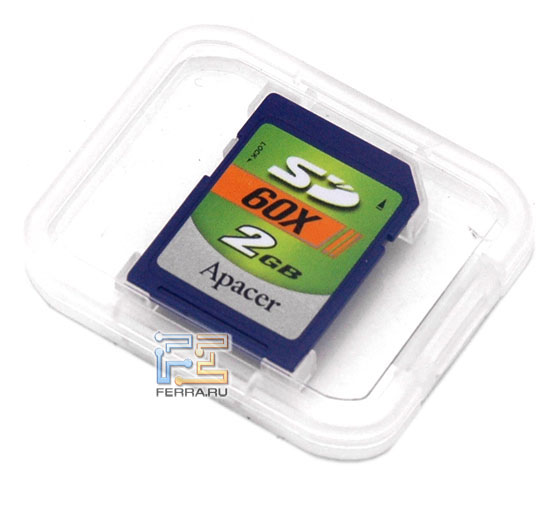 Типичная карта памяти SD