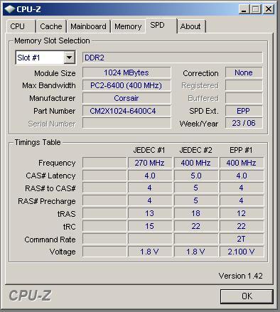 Corsair CM2X1024-6400C4 8