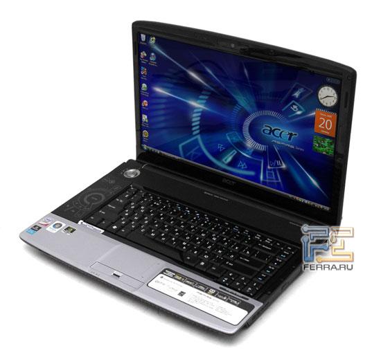 Acer Aspire 6920: внешний вид в открытом состоянии 1