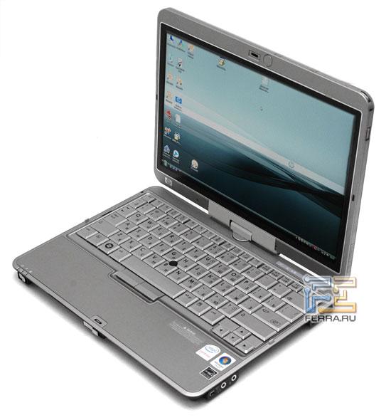 HP Compaq 2710p: внешний вид в открытом состоянии 1