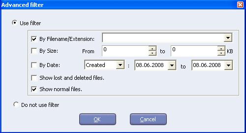 Фильтрация файлов