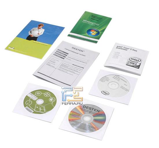Desten EasyBook D855: комплект поставки