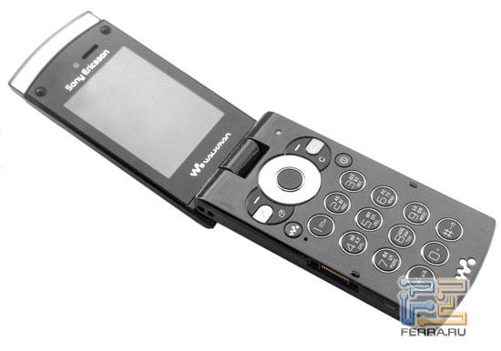 Sony Ericsson W980 в открытом состоянии