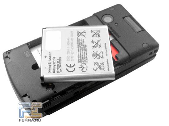 Sony Ericsson W980: аккумулятор