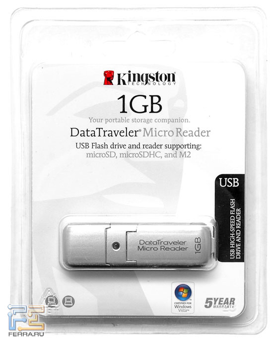 Kingston DataTraveler MicroReader 1GB 2