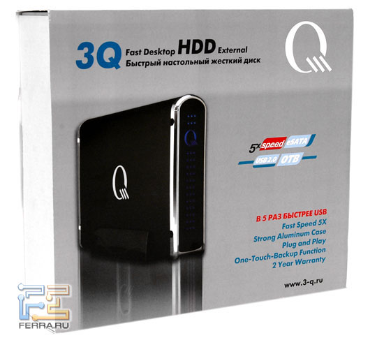 Коробка 3Q Fast Desktop HDD External 1000GB