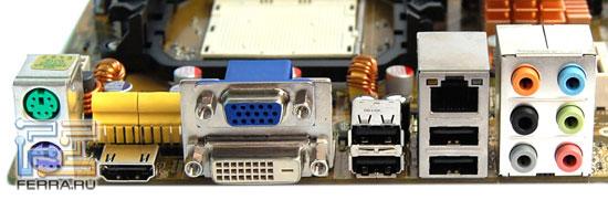 Задняя панель ASUS M3A78-EMH HDMI