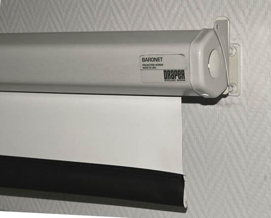 Экран Baronet может изготавливаться с поверхностями Matt White, High Contrast Grey