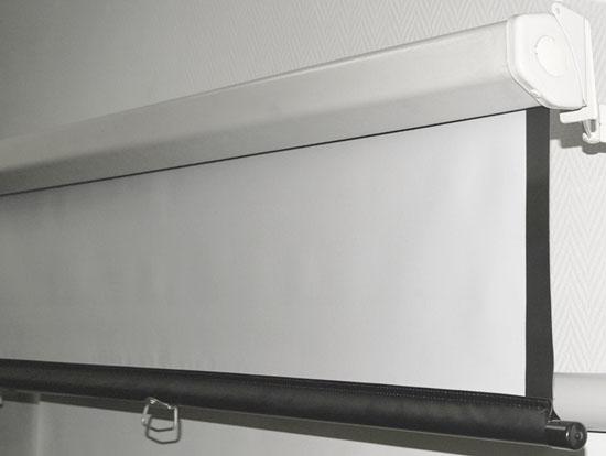 Экран Luma может изготавливаться с поверхностями Matt White, High Contrast Grey, Glass Beaded