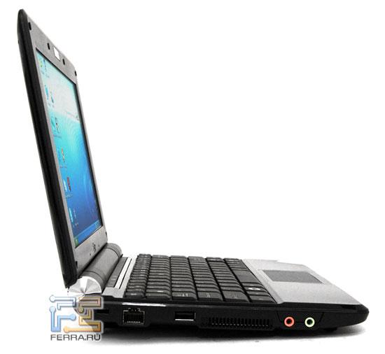 ASUS Eee PC 1000: внешний вид в открытом состоянии
