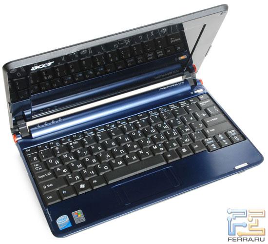 Acer Aspire One: внешний вид в открытом состоянии 2
