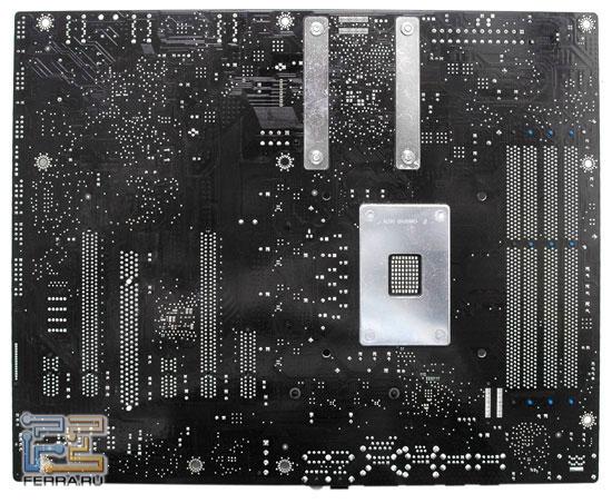 Обратная сторона материнская плата Intel DX58SO