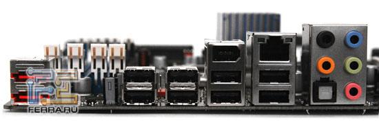 Задняя панель Intel DX58SO