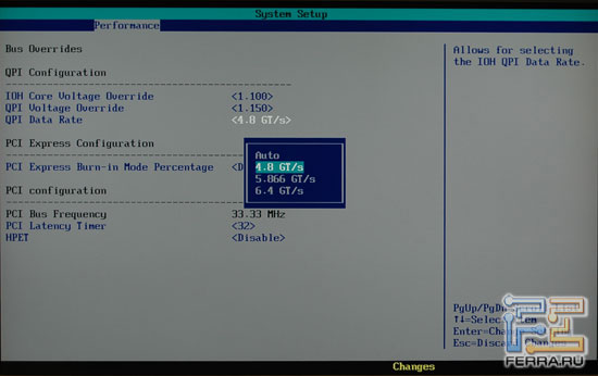 BIOS Intel DX58SO: Bus Overrides 2