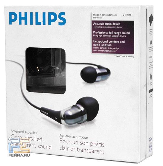Наушники Philips SHE9850 в упаковке