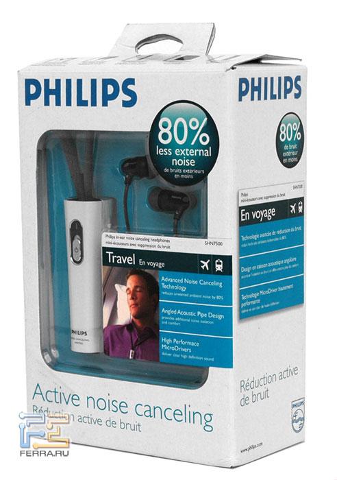 Наушники Philips SHN7500 в упаковке