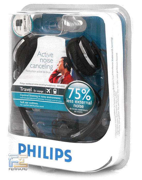 Наушники Philips SHN5500 в упаковке