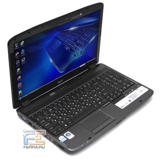 Acer Aspire 5735Z: внешний вид в открытом состоянии