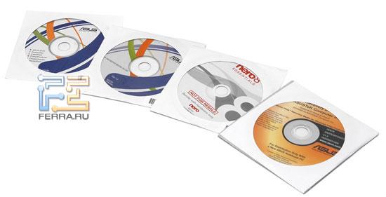 ASUS N50Vn: компакт-диски с ПО