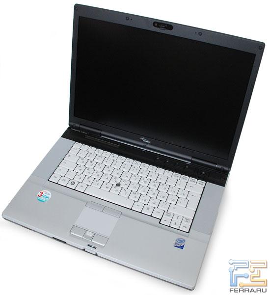 Fujitsu Siemens Lifebook E8420: внешний вид в открытом состоянии 1