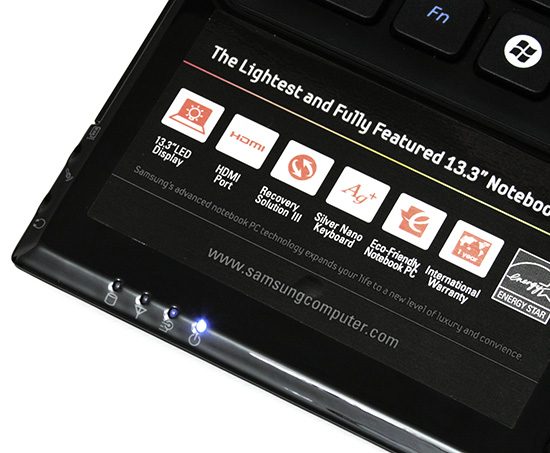 Samsung X360. Светодиодные индикаторы (1)