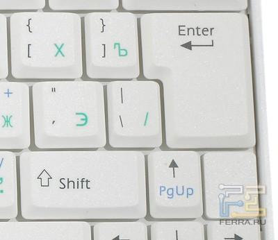 Где находится enter на клавиатуре