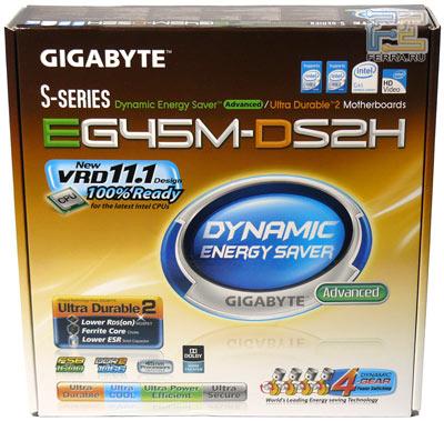 Упаковка Gigabyte GA-EG45M-DS2H, превью