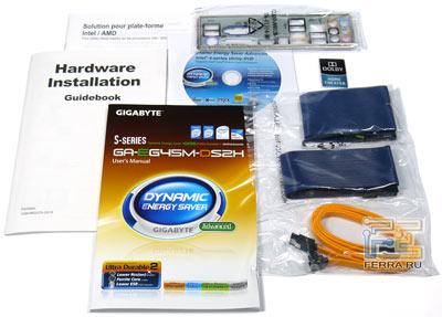 Комплект поставки Gigabyte GA-EG45M-DS2H