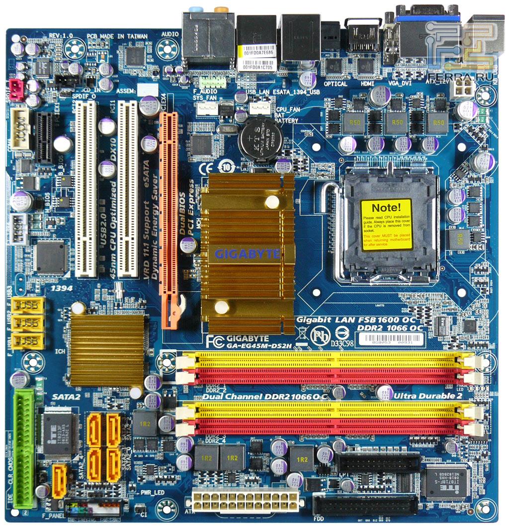 Подсистема питания процессора выполнена по 4-фазной схеме с качественной элементной базой.  Возле задней панели платы...