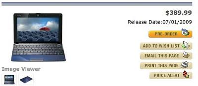 ASUS Eee PC Seashell 1005HA