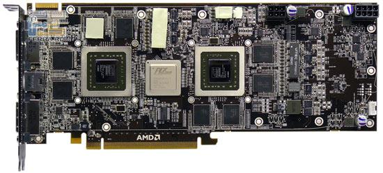 Печатная плата видеокарты Force3D Radeon HD 4870 X2, превью