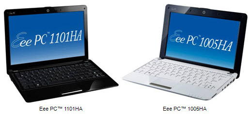 ASUS Eee PC Seashell 1101HA � 1005HA