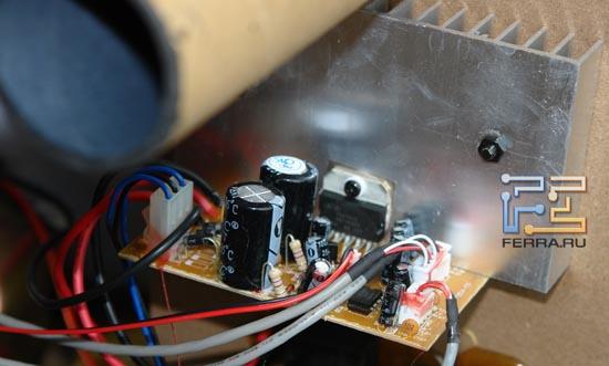 Усилитель реализован на двухканальной микросхеме TDA7265.