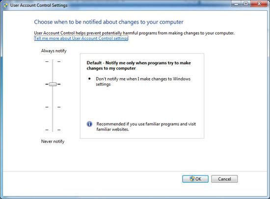 ��������� UAC � Windows 7