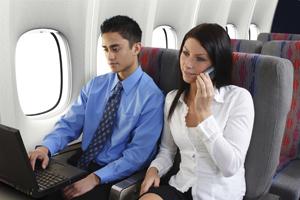 Мобильный в самолете
